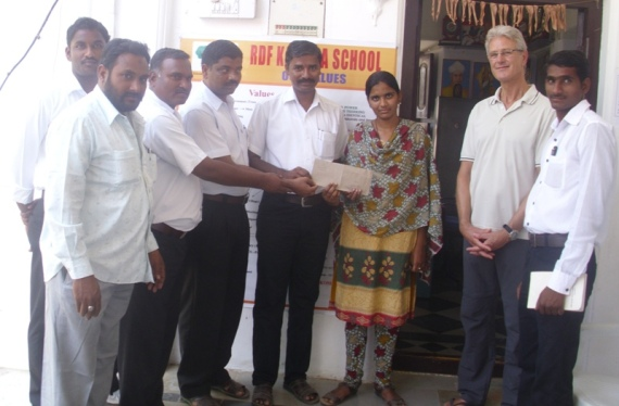 Ganji Pravallika giving back to RDF Kalleda School