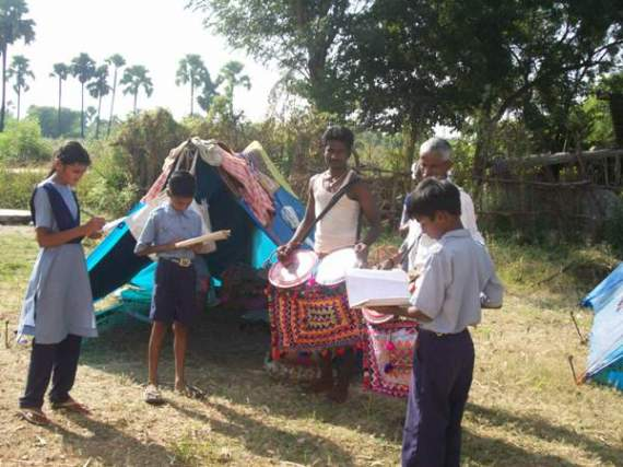 RDF students with the nomadic people