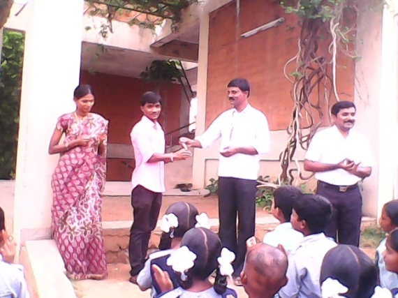 Matendla School team felicitating the 2 alumni