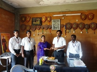 Sumalatha being commended by Mr. Vishnu, Headmaster, Matendla School