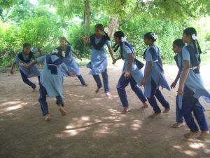 Students practicing Khabaddi2