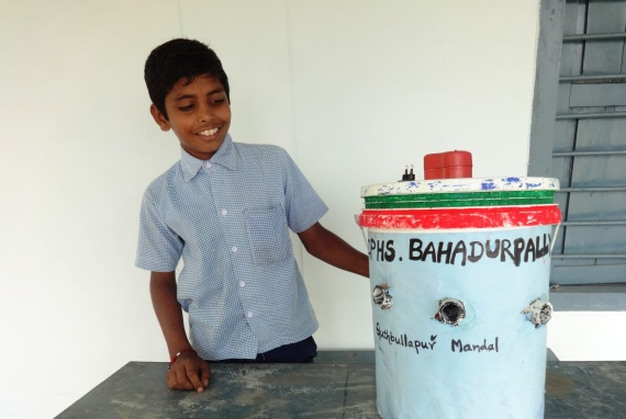 Aravind with his invention