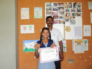 Pooja with her Yoga gold medal