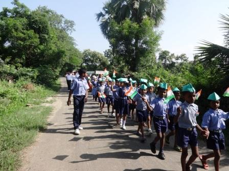 Primary School children in the parade