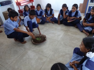 Students doing plant activity3