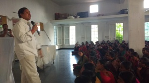 Mr. T. Ravinder Rao addressing the students