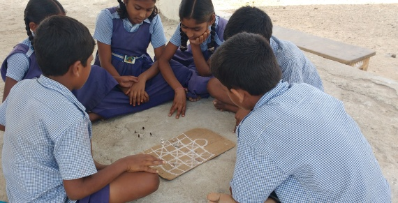 Students are plying Asta Chamma Game1