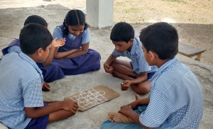 Students are plying Asta Chamma Game2
