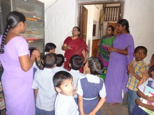 Interacting with Primary School children & teachers