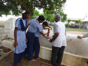 Students are repairing taps1