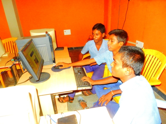 Students at work in the computer lab