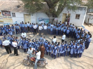 Awareness rally by KS children on fair electoral practices