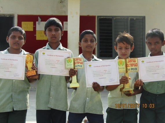 The proud ZPHS children with their certificates and prizes