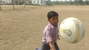 Rahul, firmly focused on his volleyball goals